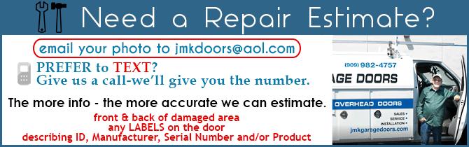 Email Garage Door Repair For Estimate