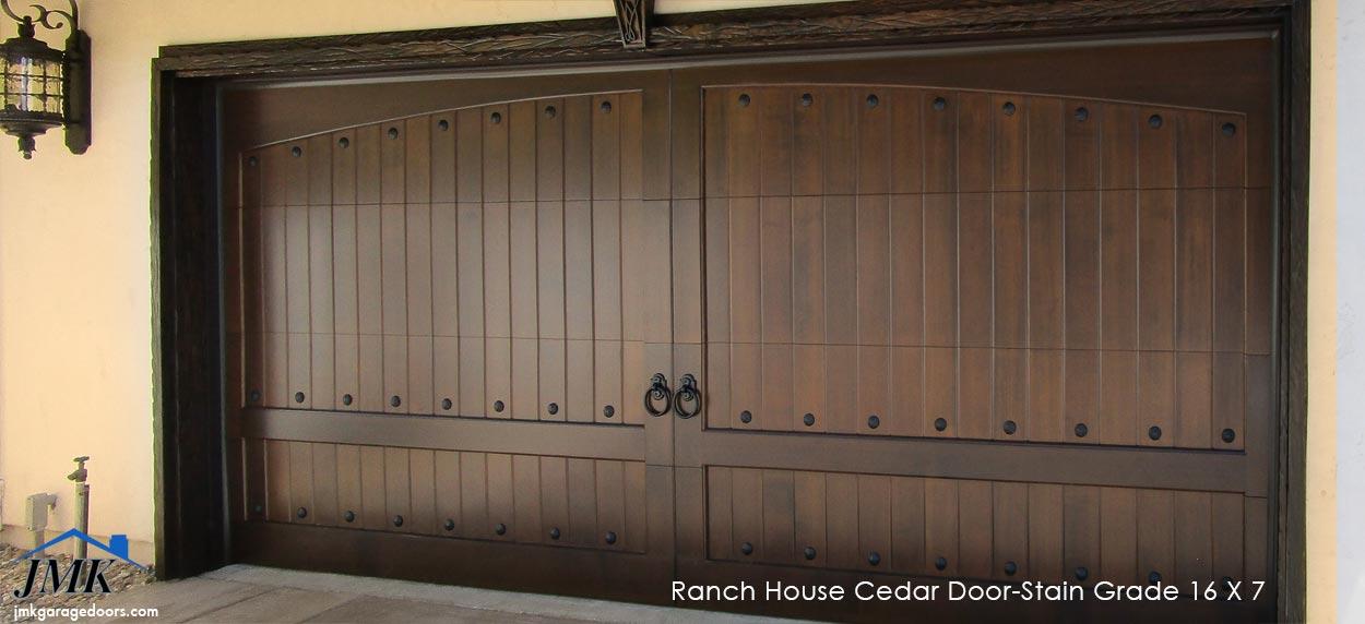 Wood Sectional Garage Doors Composite Stain Grade Inland Valley